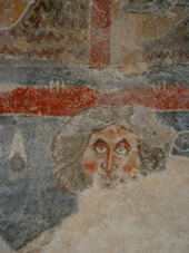 wall paintings in Aude church