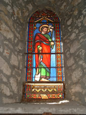 stained glass window in local church