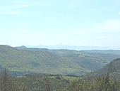 view of the Corbieres hills